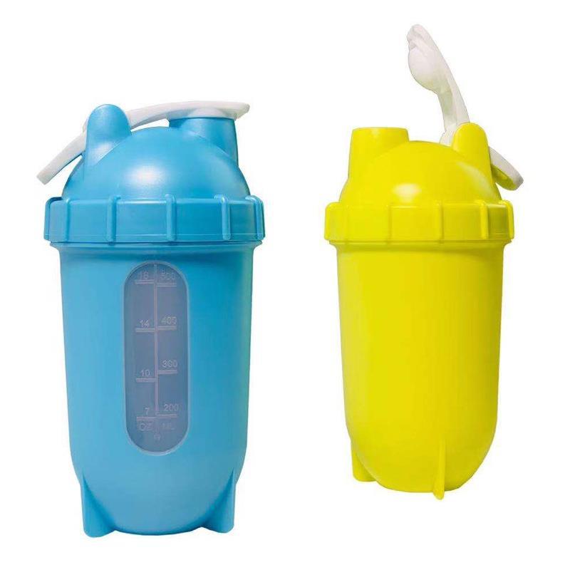 Custom Logo BPA Free Sports Gym Plastic Protein Shaker Bottle