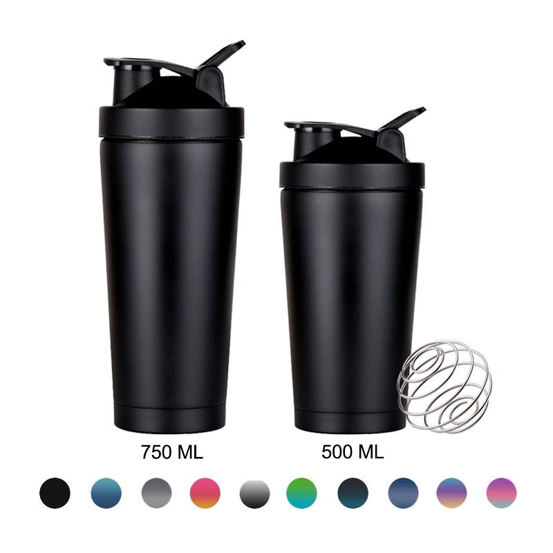 304 double wall stainless steel protein shaker bottle