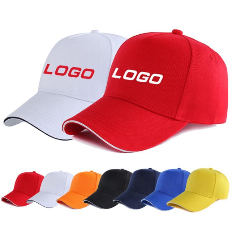 Cotton 5 Panel Baseball Cap Hats Custom Embroidery Logo Cheap Promotional Gift